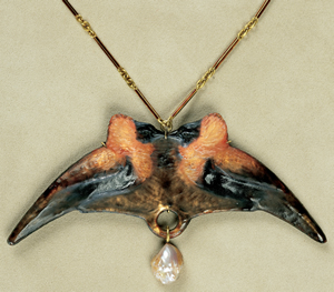 Bishop Birds And Pearl Pendant By Rene Lalique