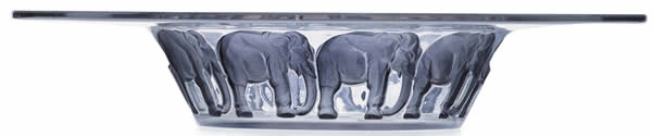 R. Lalique Elephants Bowl