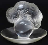 R. Lalique Soucis Glass Ashtray