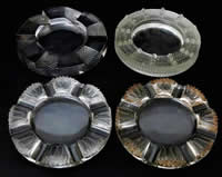 R. Lalique Sumatra Ashtray With Three Modern Ashtrays