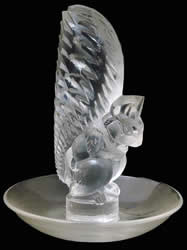 R. Lalique Ecureuil Glass Ashtray