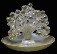 R. Lalique Muguet Glass Ashtray