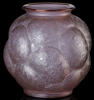 Tortues Vase In Alexandrite Glass Color 1 of 2