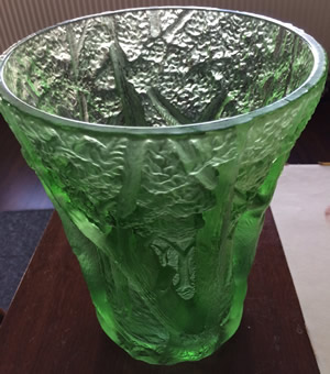 Czech Forest Vase Shown From Above Sold As R. Lalique