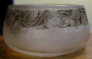 R. Lalique Frise Monnaie Du Pape Cire Perdue Bowl