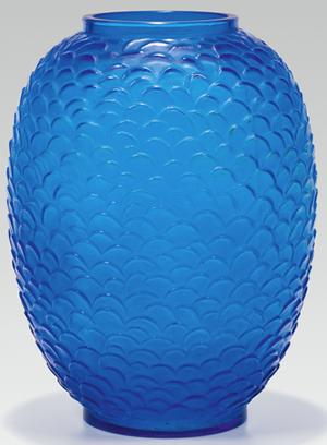 Fake Ecailles Vase At Im Kinsky Vienna Austria Falsely Advertised As René Lalique